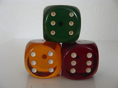 1 Orange Original Ddr Würfel German Dice Cube Alman Oyun Zari Kunstharz Bakelite