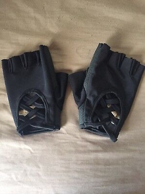 Black Oak And Reed Fitness Gloves size small with strings workout gloves