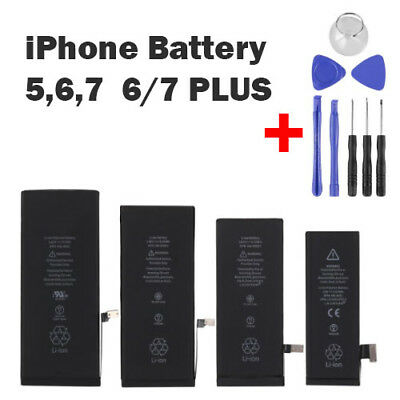 New Original Replacement Battery For Apple Iphone 5 5s 6 6plus 6s 7 + Tool Kit