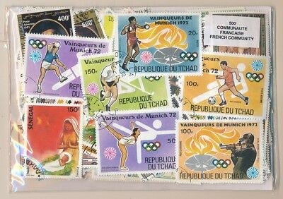 Colonies French US 500 stamps different / Community french