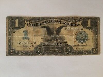 """~* 1899 One Dollar Large Silver Certificate Note, """"black Eagle"""" ~*"""