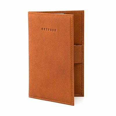 Hoxton Leather Golf Scorecard Holder with Pen Loop by Gryphen Tan