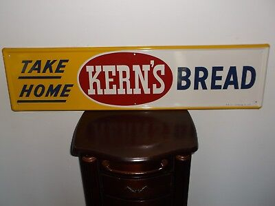 Take Home Kern's Bread Tin Sign 1973 30 3/4 X 7 3/4 Inches Never Hung