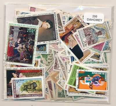 Dahomey US 200 stamps different