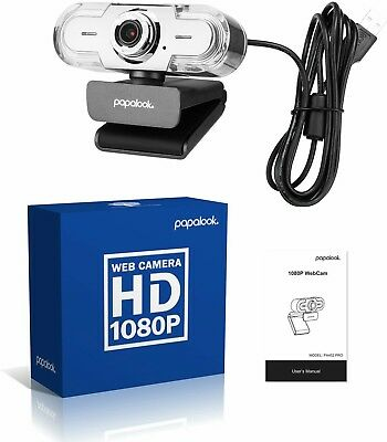 PAPALOOK PA452 Pro Webcam, 1080P Computer Camera with Microphone, Video Calling