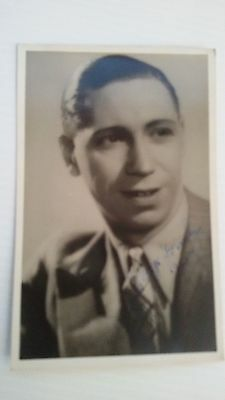 George Formby signed post card 1938