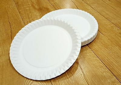 PARTY PAPER PLATES WHITE ROUND DISPOSABLE PARTY TABLEWARE 9 inch or 7 inch