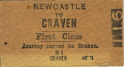 Railway tickets a trip from Newcastle to Craven by the old NSWGR
