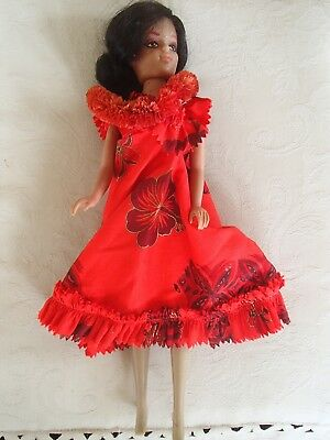 Hawaien Red Dressed Barbi Doll