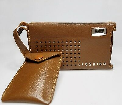 TOSHIBA TRANSISTOR RADIO with leather case