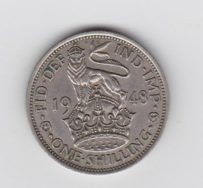 Great Britain Shilling 1948 Very Fine. Nice grade.