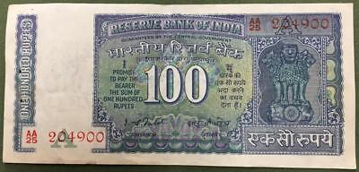 India 100 Rupees 1977 P.64 Better Grade