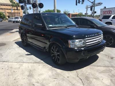 2007 Land Rover Range Rover Sport SUPERCHARGED 2007 RANGE ROVER SUPERCHARGED 92,200 Miles BLACK 4.2L Automatic DAMAGED SALVAGE