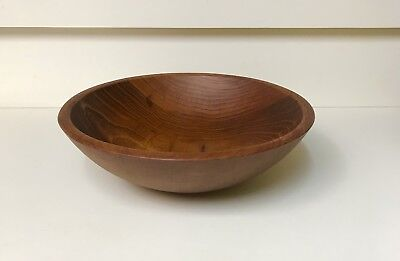 "Antique 10 "" AUTHENTIC  Munising Wooden Dough Bowl, Rich Warm Patina, Signed"