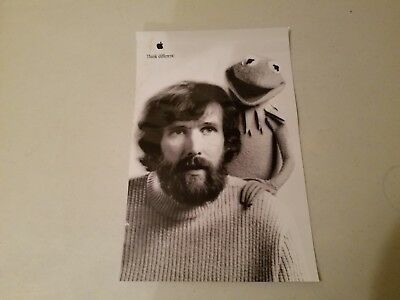 Vintage Apple Think Different Poster 11 x 17 - Jim Henson and Kermit the Frog