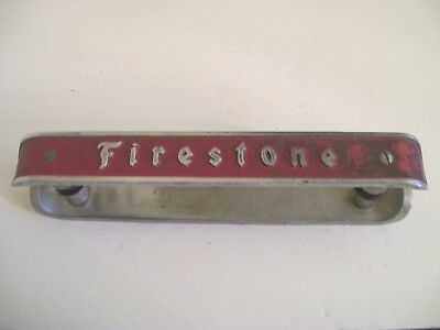 "Antique ""Firestone Advertising Door Pusher"" Double Sided 2"" W  17"" Long"