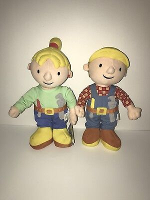 Bob the Builder & Wendy 2001 Plush 11""