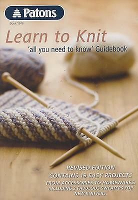 LEARN to KNIT ~ All You Need to Know GUIDEBOOK * 19 EASY PROJECTS