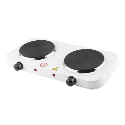 Portable Electric Cooktop Double Burner Plate 2 Two Cooking Stove Commercial