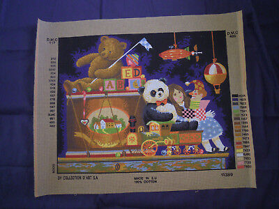 TOY BOX Vintage Tapestry Canvas by Collection D'Art S.A.
