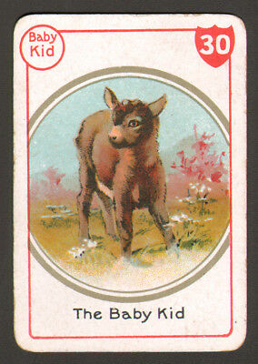 GOAT BABY Kid, Lovely Victorian Playing Card- Swap Card