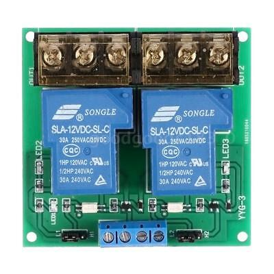 2 canaux Conseil Module DC 12V 30A Relais Optocoupler Isolation High / Low C8C1