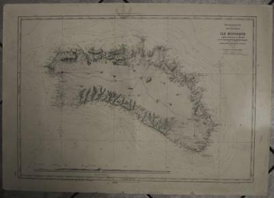 Minorca Balearic Islands Spain 1966 After Biset Vintage Lithographic Sea Chart