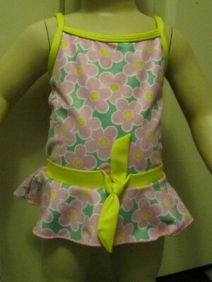 Pretty Pink, Green & Yellow Floral Swimsuit by Sugar Cookies size 36 month