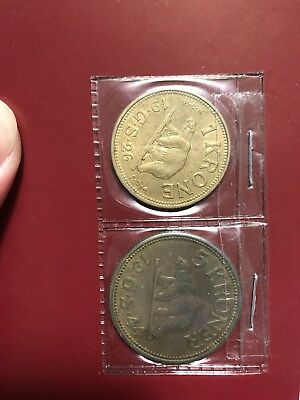 1926 greenland 1 krone and 1944 5 krone coin