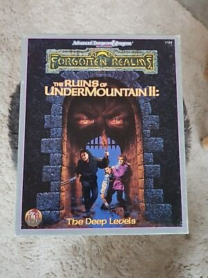 AD&D 1104 THE RUINS OF UNDERMOUNTAIN II: The Deep Levels TSR Campaign Adventure