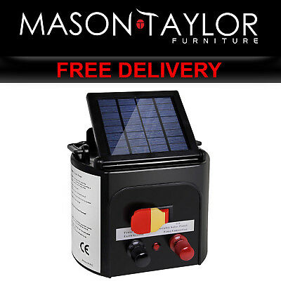 Mason Taylor 3km Solar Power Electric Fence Energiser Charger SFC-SO10-3KM-SBS