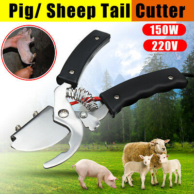 Electric LiveStock Tail Cutting For Dog Pig Puppy Sheep Tail Cutter 150W 21CM