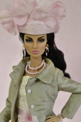 """Tess-Creations fashion royalty 12"""" ooak handmade clothes outfit. """" pink peony """""""