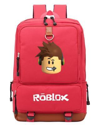 Hot Roblox Backpack Kids School Bag Students Boys Bookbag Handbags Travelbag