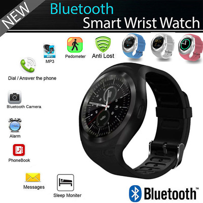 Waterproof Bluetooth Smart Watch Touch Screen SIM Call Sports Watch For Android