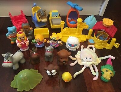 FISHER PRICE Little People ANIMALS Farm HELICOPTER KNIGHT Jester BUNDLE Bulk Lot