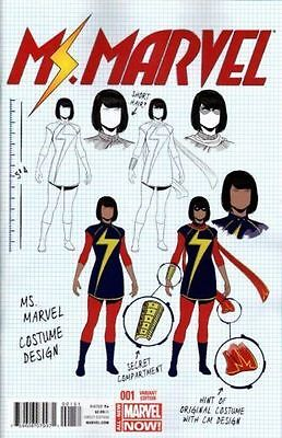 Ms Marvel #1 Design Variant 1St Print Herring All-New Marvel Now Kamala Khan