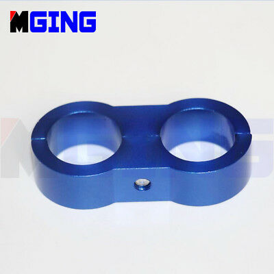 AN8 AN -8 16.3MM Wire Fuel Hose Separator Clamp cable fastener divider Clip BLUE