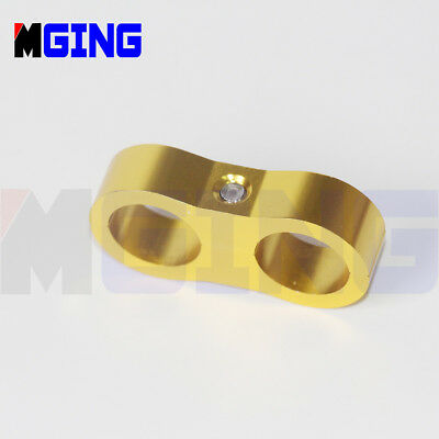 AN8 AN -8 16.3MM Wire Fuel Hose Separator Clamp cable fastener divider Clip GOLD
