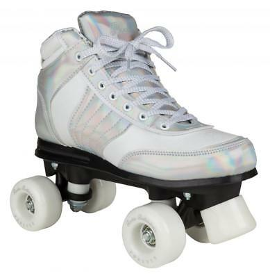New Rookie Forever Disco Silver Girls Womens Quad Wheels Roller Skates rrp £80
