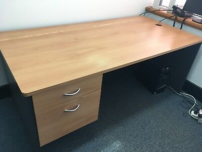 180cm Office Desk with two drawers