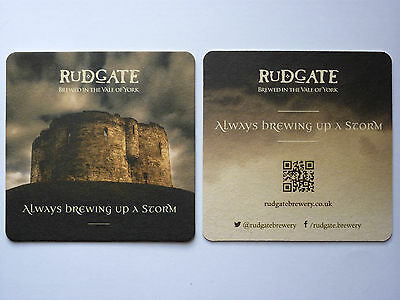 Rudgate Brewery Brewed In The Vale Of York Brewing Up A Storm Beermat Coaster