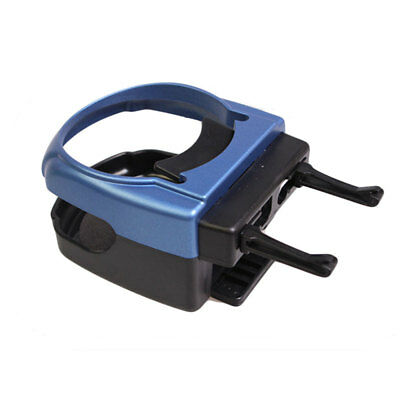 1*Car UB Vehicle Beverage Air Vent Bottle Can Auto Drink Cup Holder Stand Blue