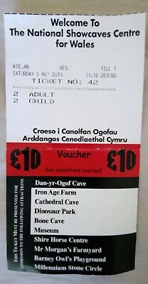 national showcaves Wales admission voucher £10 off entry in 2018