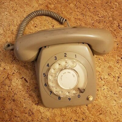 Vintage Retro Rotary Dial Telephone - 801 Series in Grey