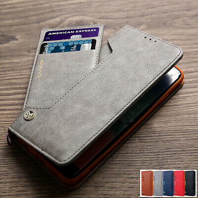 Samsung S10/Plus S9 S8 Magnetic Flip Leather Wallet Card Slots Case Stand Cover