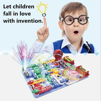 Educational Snap Circuits Electronics Discovery Blocks Kit Science Toy Kids DIY