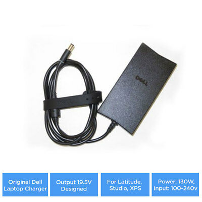 Original Dell Laptop Charger, Output 19.5V Designed For Latitude, Studio, XPS
