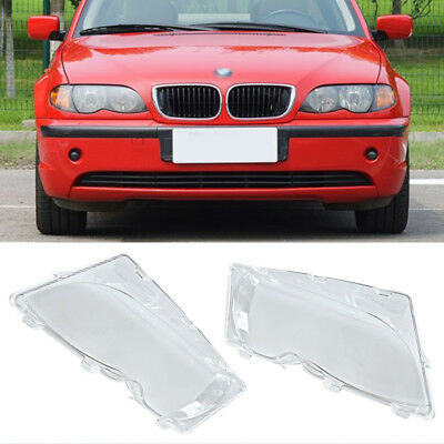 For 2001-2006 BMW E46 Left & Right Headlight Lens Polycarbonate Cover Set MK#