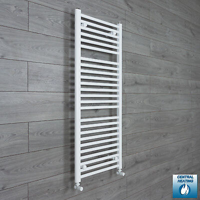 1200 x 500 Flat White Heated Towel Rail Radiator Bathroom Kitchen Warmer